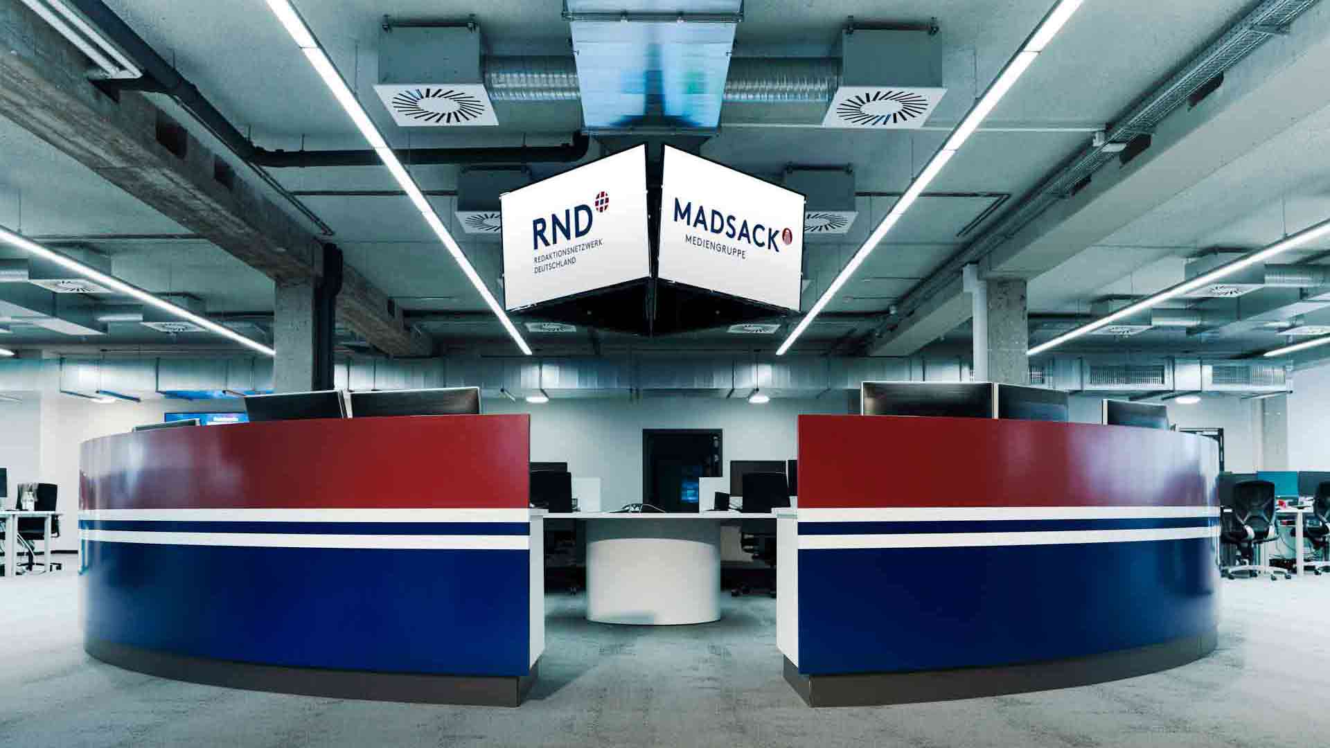 Der Newsroom des RND Büro